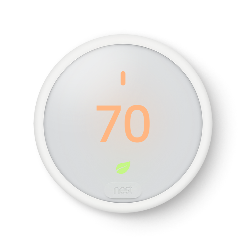 Google Nest Thermostat E. It's easy to save energy.